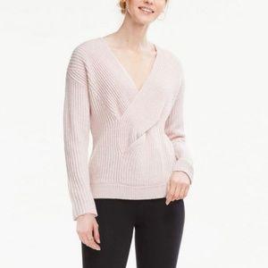 Ann Taylor Twist Ribbed Alpaca Wool Blend Sweater